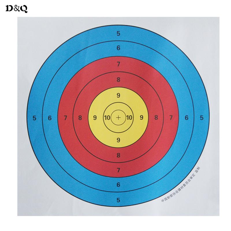 10-stks-Standaard-43-5x43-5-cm-17-Full-Ring-Schieten-Boogschieten-Doel-Papier-voor-Boog